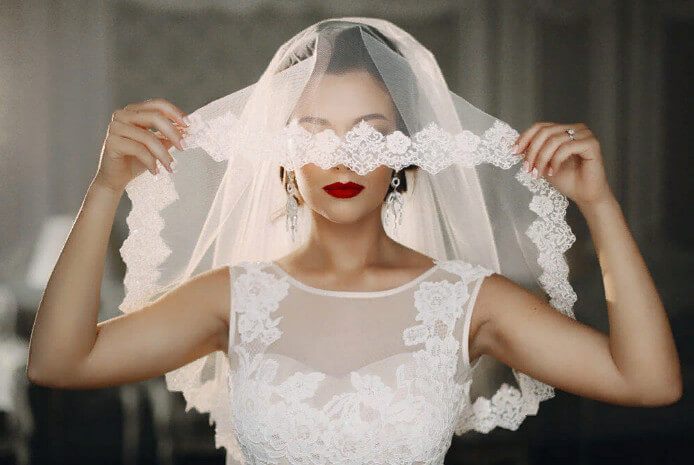 Фата под платье