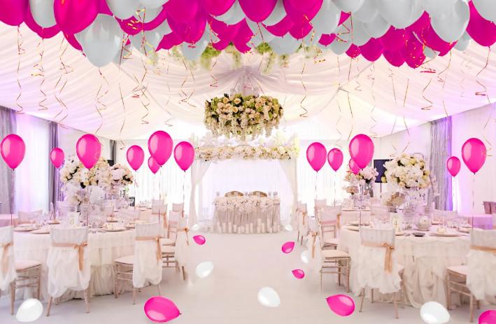 Свадебный декор шарами
